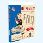 """""""Holzbauset für kreative Baumeister"""" - mit Werkzeug"""