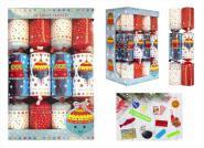 12 Stück Christmas Crackers Bell & Bauble Kinder 30cm Weihnachtsdekoration