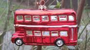 London Bus Glasanhänger Christbaumschmuck von Inge Glas