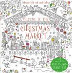 Welcome to the Christmas Market to colour / Auf dem Weihnachtsmarkt zum Ausmalen (Usborne)