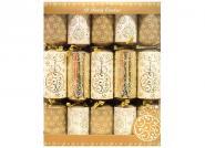 10 Stück Christmas Crackers Gold Bauble Kinder 30cm Weihnachtsdekoration