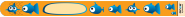 10 Stück Single Use Infoband Once Orange Fish - orange Fische
