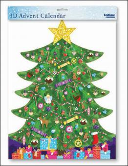"""Nostalgischer 3D Adventskalender """"Weihnachtsbaum/Christmas Tree"""" Caltime"""