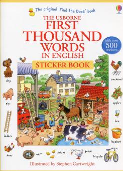 First 1000 Thousand Words Sticker Book (PB) - Usborne