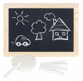 Schreibtafel Schiefertafel mit Kreide und Schwamm von Goki Schulanfang