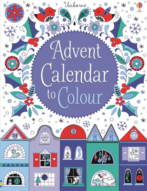 Adventskalender zum Ausmalen / Advent Calendar to Colour (Usborne)
