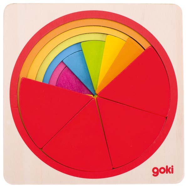 Schichtenpuzzle Kreis (Farben Formen) von Goki