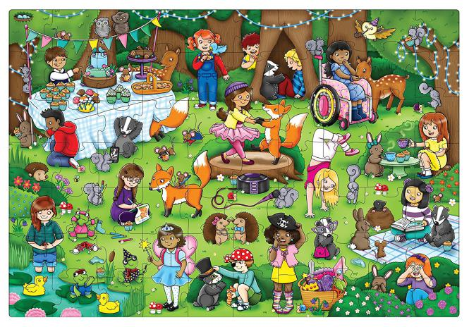"Orchard Toys ""Woodland Party - Feier im Wald"" (Floor Puzzle)"