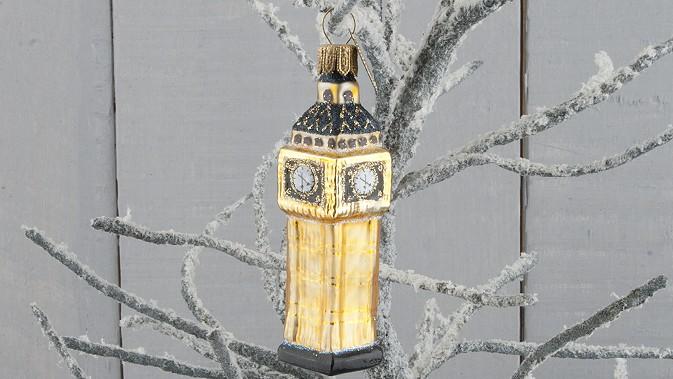 Kidzmedia Shop Big Ben London Glas Anhanger Christbaumschmuck