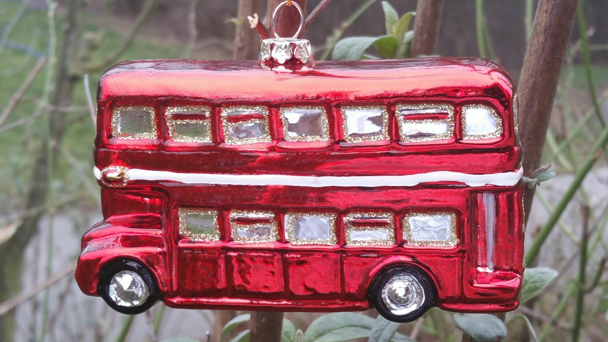 Kidzmedia Shop London Bus Glasanhanger Christbaumschmuck Von Inge