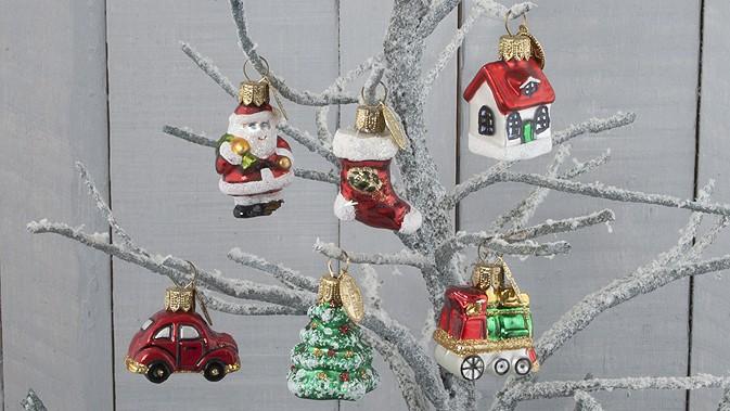 Kidzmedia Shop Mini Mix Weihnachten 6 Stuck Glas Anhanger